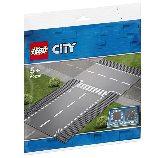 Конструктор Lego Прямой и Т-образный перекрёсток City 60236