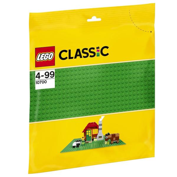 Конструктор LEGO Строительная пластина зеленого цвета Classic 10700