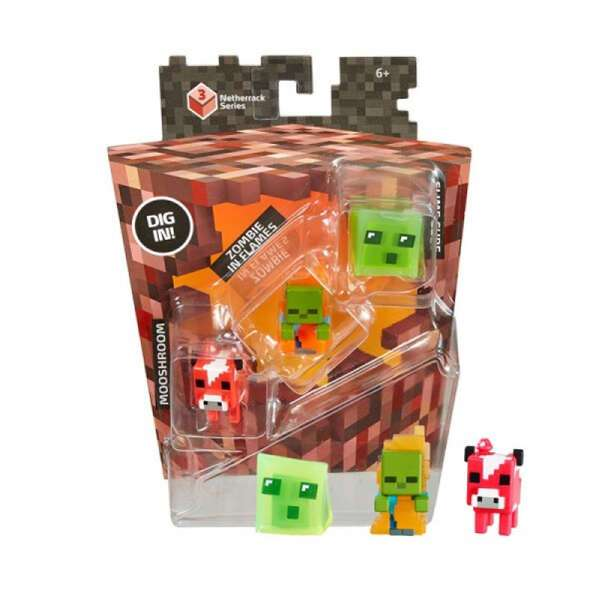 Минифигурки Minecraft Mattel Mooshroom Zombie in Flames