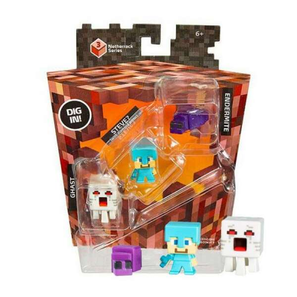Набор минифигурок Minecraft Chast, Steve with Diamond Armour, Endermite Mattel CKH42