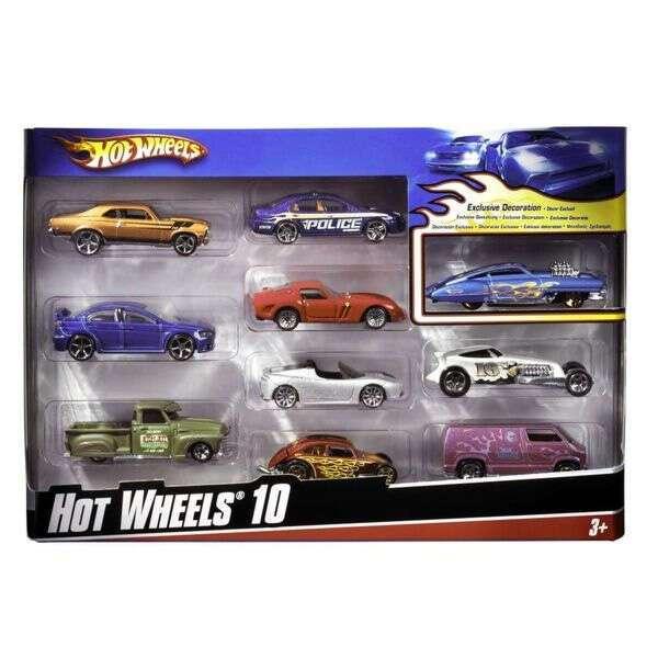 """Базовые машинки """"Подарочный набор 10 машинок"""" Hot Wheels 54886"""