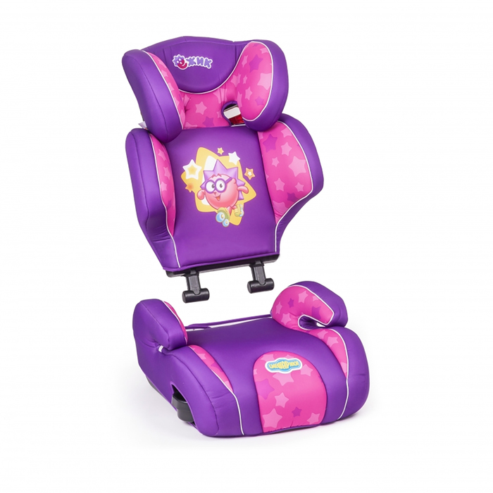 """Детское кресло """"Смешарики"""", группы 2/3 (15-36 кг/3-12 лет), полиэстер, поролон 3 см, цвет розовый, SM/DK-400 Nyusha"""