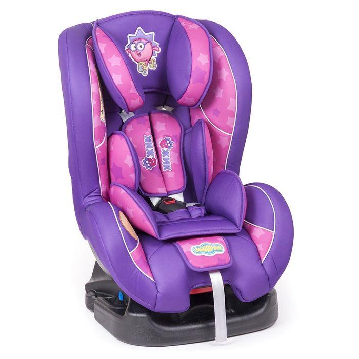 """Детское кресло """"Смешарики"""", группы 0+/1 (0-18 кг/0-4 года), полиэстер, поролон 3 см, цвет фиолетовый, SM/DK-200 Ezhik"""
