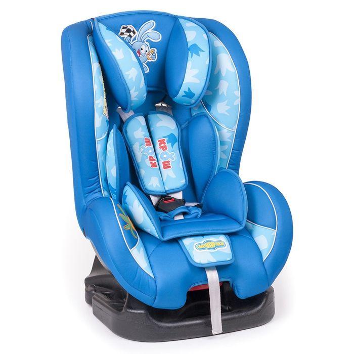 """Детское кресло """"Смешарики"""", группы 0+/1 (0-18 кг/0-4 года), полиэстер, поролон 3 см, цвет синий/голубой, SM/DK-200 Krosh"""