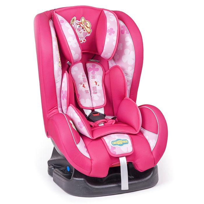 """Детское кресло """"Смешарики"""", группы 0+/1 (0-18 кг/0-4 года), полиэстер, поролон 3 см, цвет розовый, SM/DK-200 Nyusha"""
