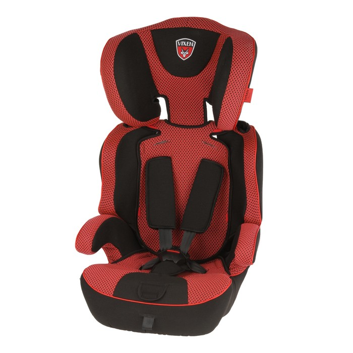 Автокресло-бустер «Лазурит Mini», группа 1-2-3, цвет красный/чёрный