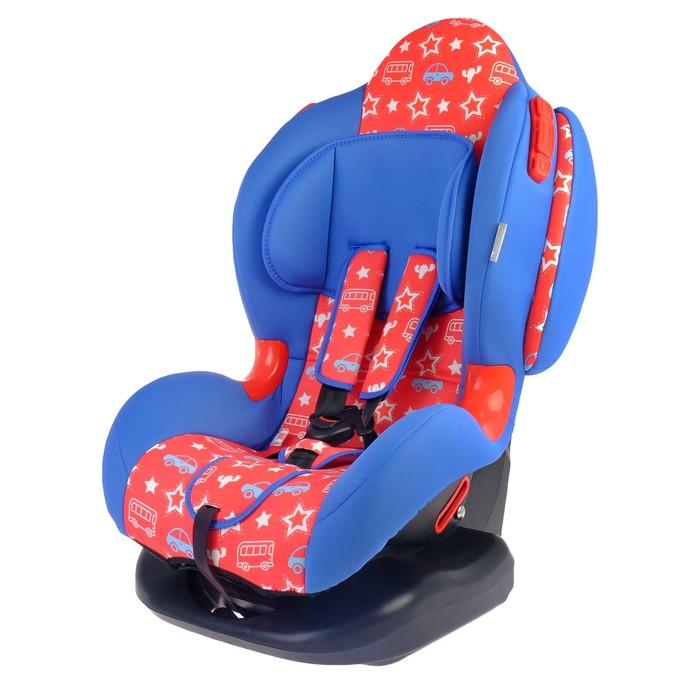 Автокресло Round Isofix, группа 1-2, цвет красный/синий «Джинс»