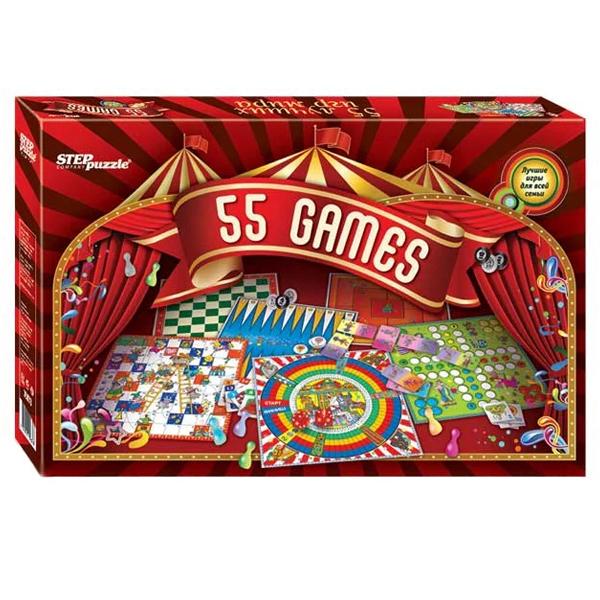 Настольная игра Step Puzzle 55 лучших игр мира