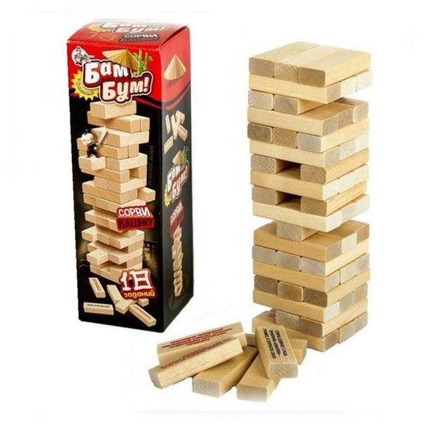 Настольная игра Десятое Королевство Бам-Бум! Сорви башню с фантами