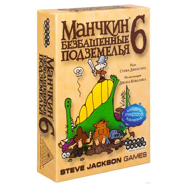 Настольная игра Мир Хобби Манчкин 6. Безбашенные Подземелья