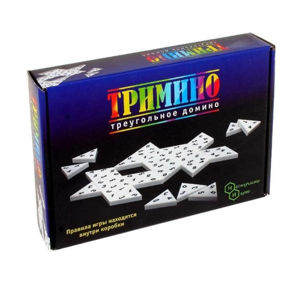 Настольная игра Нескучные игры Тримино (треугольное домино)