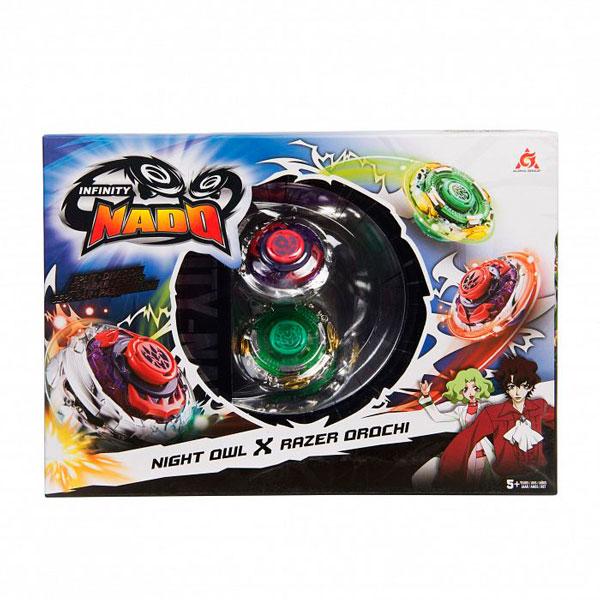 Игровой набор Infinity Nado 2 волчка Сплит, Owl&Orochi, 36060