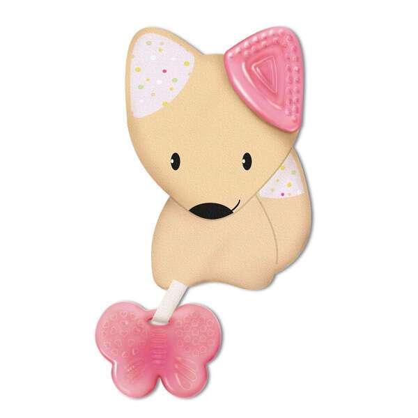 Игрушка-прорезыватель Fresh Friends Chicco роз.
