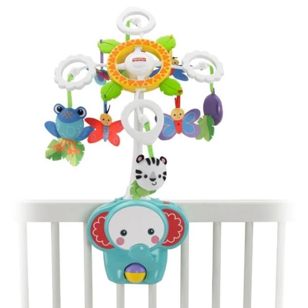 """Игрушка для малышей Fisher-Price Мобиль для детской кровати """"Друзья из тропического леса""""  BFR22"""