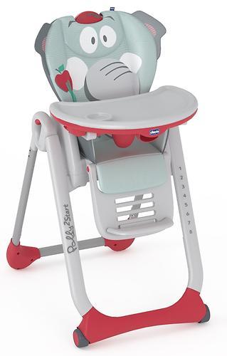 Стульчик для кормления Polly Chicco 2 Start Baby Elephant 4w