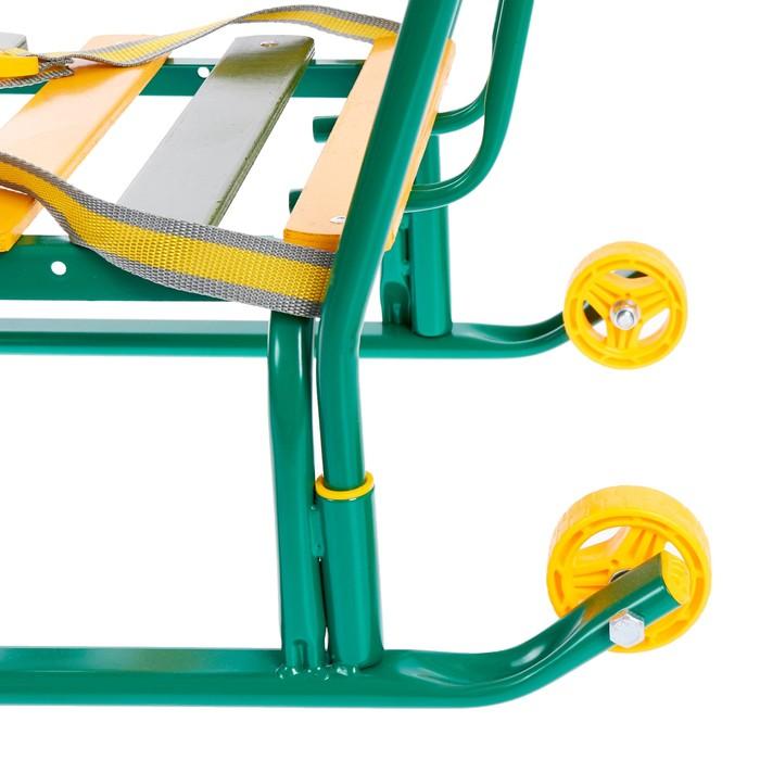 Санки «Тимка 5 комфорт», цвет зелёный