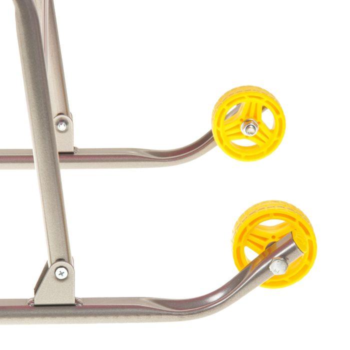 Санки-коляска «Умка 3. Вязаный узор», цвет розовый