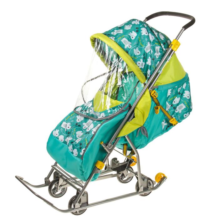 Санки-коляска «Умка 3-1. Мишки», цвет: изумруд