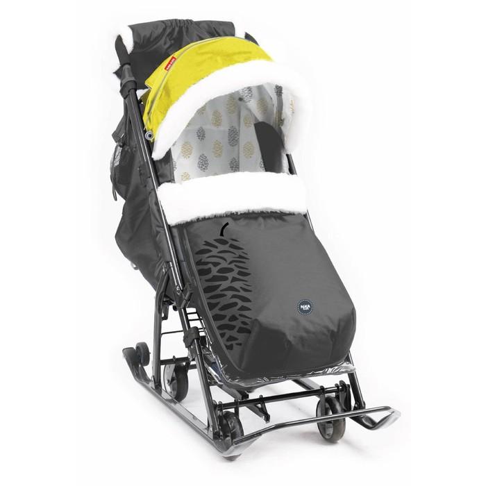 Санки-коляска «Ника Детям НД 7-5» цвет чёрно-золотой