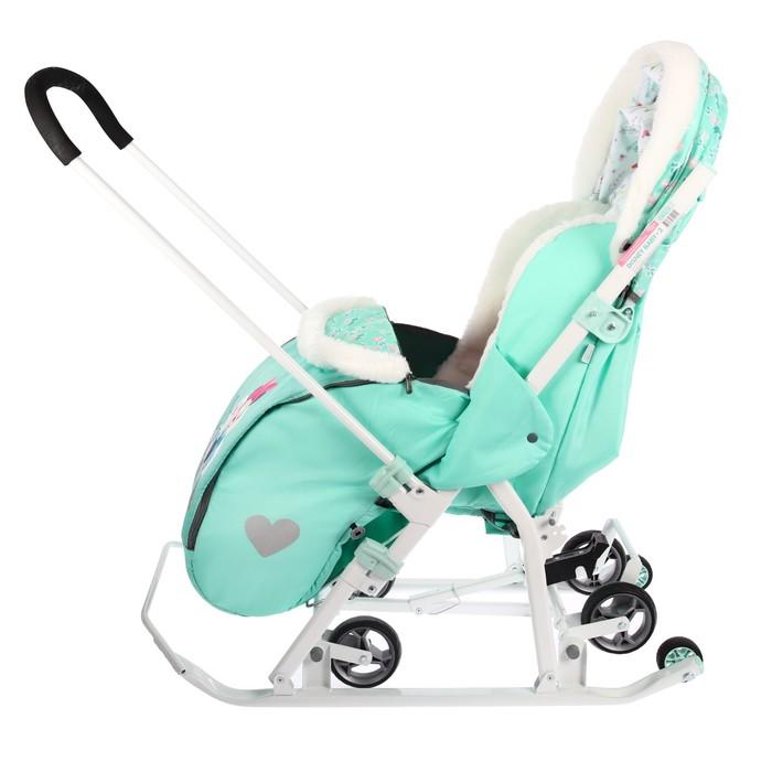 Санки-коляска «Disney-baby 2. Минни Маус», цвет мятный