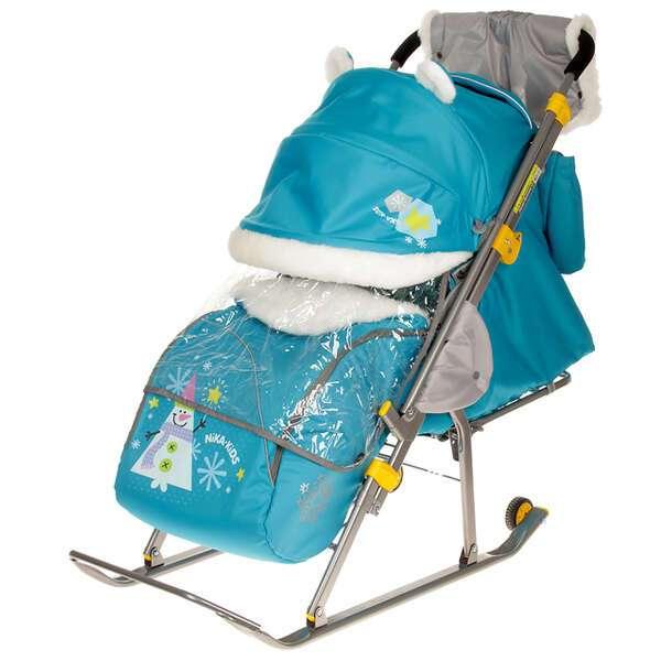 Санки-коляска Nika kids Ника детям 6. Снеговик (2505482)