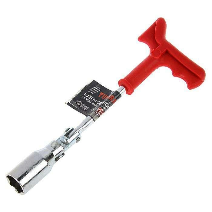 Ключ свечной TUNDRA basic, с карданным шарниром, 21 мм