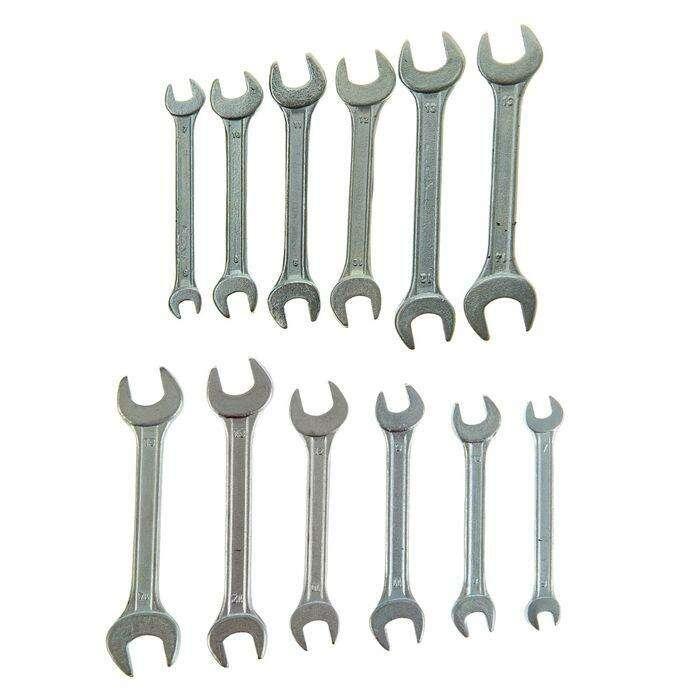 Набор ключей рожковых TUNDRA basic, холдер, хромированный, 6 шт, 6-14 мм