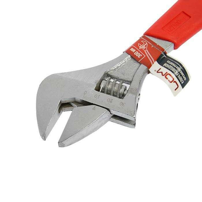 Ключ разводной LOM, пластиковая рукоятка, 300 мм