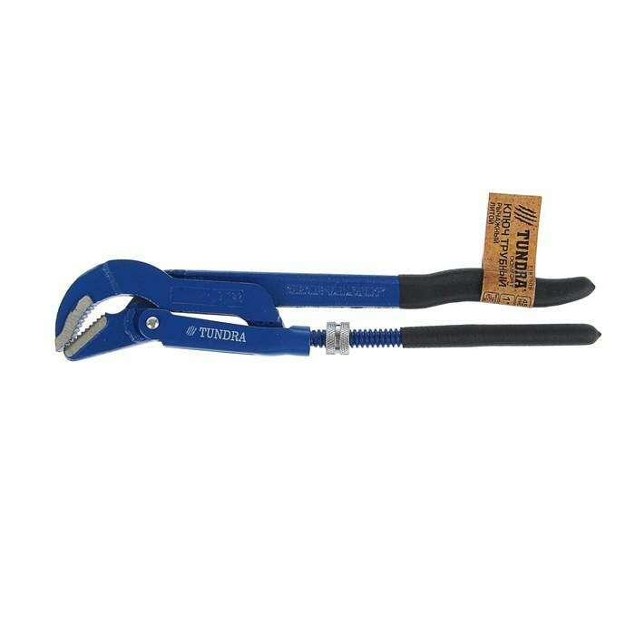 Ключ трубный TUNDRA comfort, рычажный, №1, раскрытие губ 10-36 мм, 45°, изогнутые губы