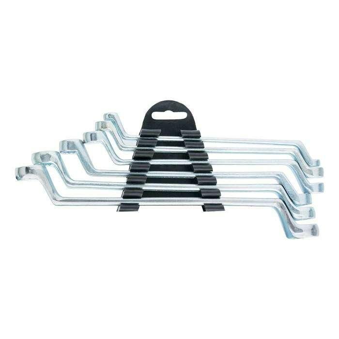 Набор ключей накидных SPARTA, 6–17 мм, 6 шт., хромированные
