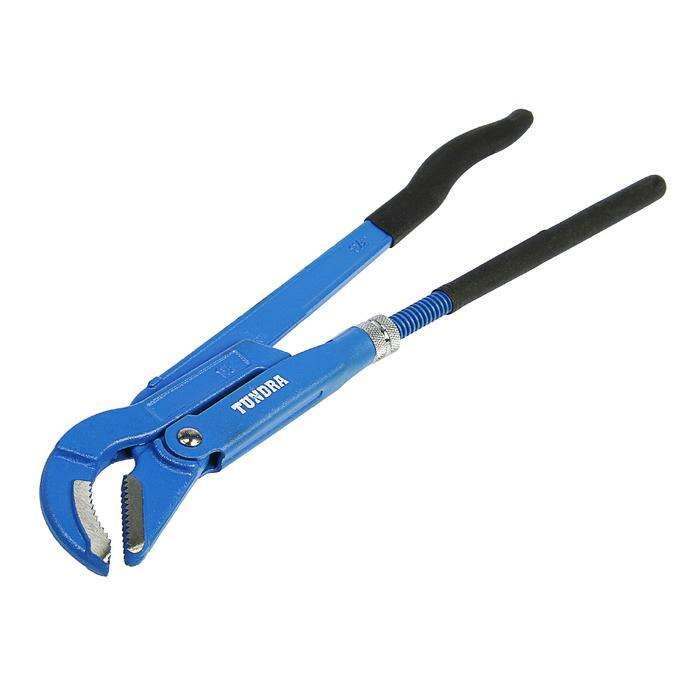 Ключ трубный TUNDRA comfort, рычажный, №2, раскрытие губ 20-50 мм, 45°, изогнутые губы