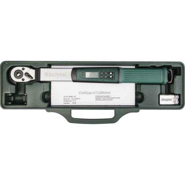"""Ключ динамометрический KRAFTOOL 64043-135, электронный, 3/8"""", 10-135 Нм"""