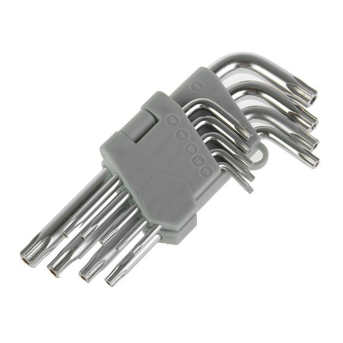 Набор ключей имбусовых Hardax, TORX, 6 граней, 9 предметов
