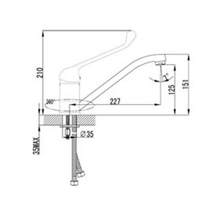 Смеситель для кухни Lemark Project LM4604C
