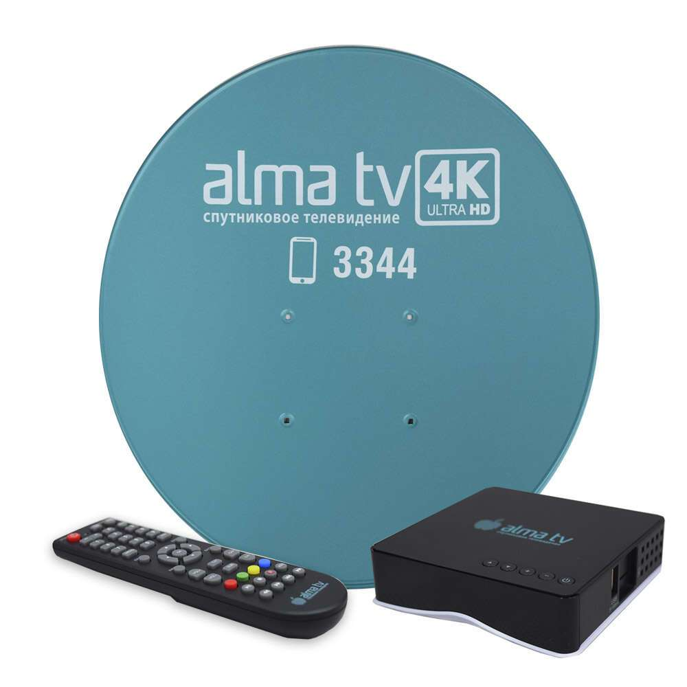 Комплект спутникового оборудования Alma TV с приставкой, 90 см
