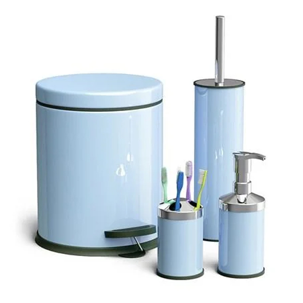 Набор для ванной Household 17013 (голубой)