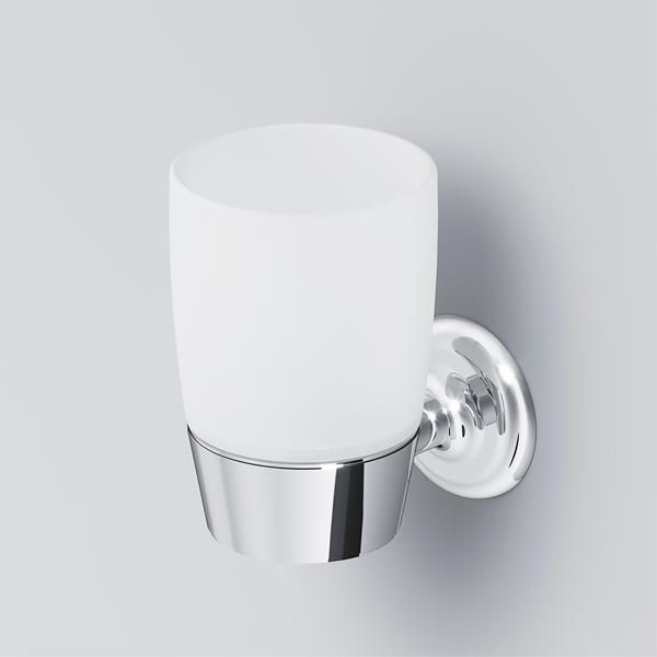 Стеклянный стакан с настенным держателем AM.PM A8034300 Like