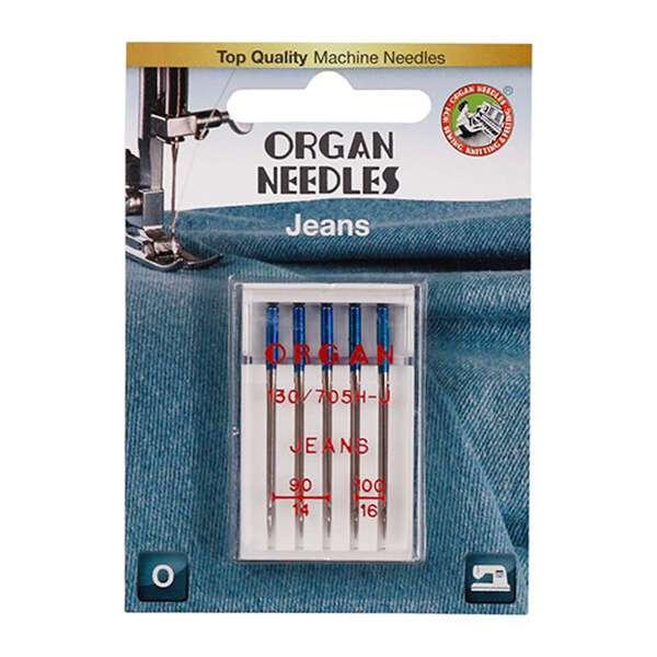 Иглы для швейных машин Organ Джинс 5/90-100 Blister