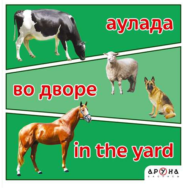 Детская книга Аруна Аулада/Во дворе/In the yard