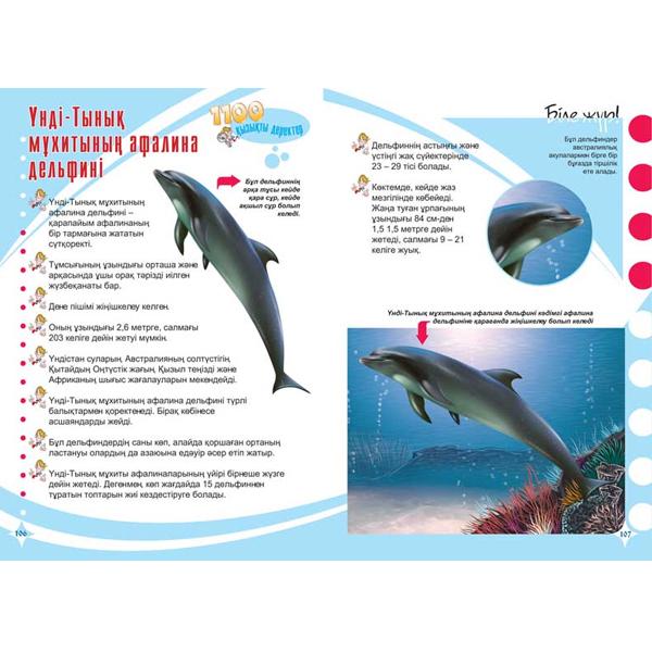 Детская книга Аруна Акулалар,дельфиндер және киттер (Акулы, дельфины, киты)