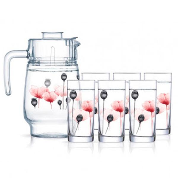 Питьевой набор Luminarc Angelique Red 7 пр. (P-6285)