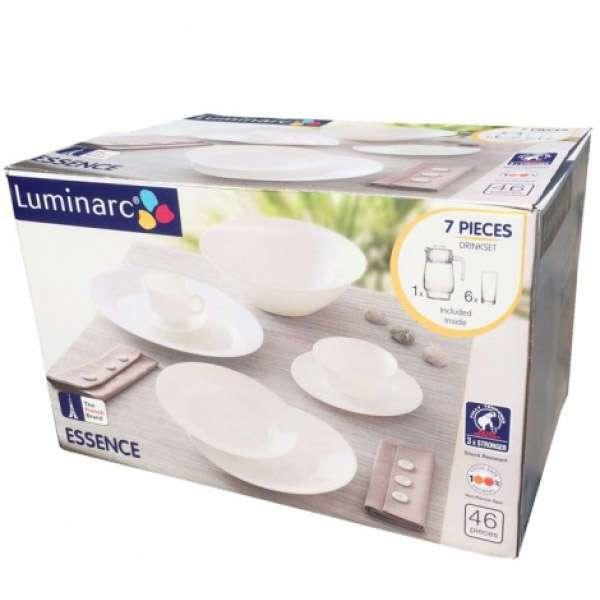 Столовый набор Luminarc N1220 White Essence (46 предметов)