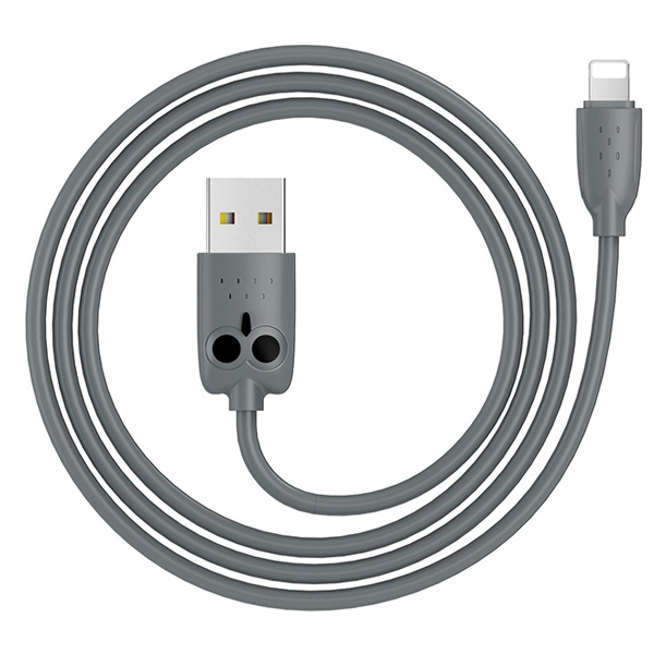 Кабель Hoco KX1 Lightning charging data cable Gray