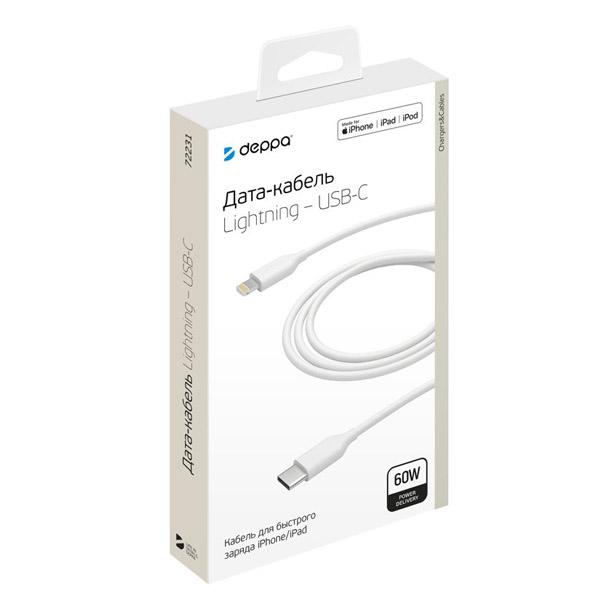 Дата-кабель Deppa USB-C - Lightning