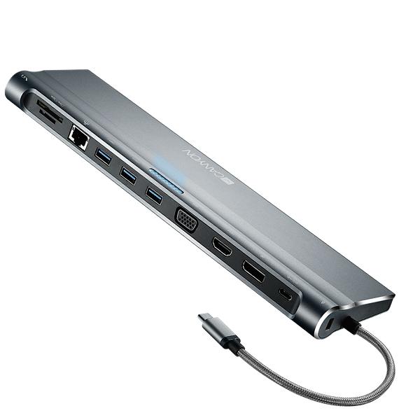 Многопортовая док-станция Canyon CNS-HDS09DG 12-в-1 USB Type C
