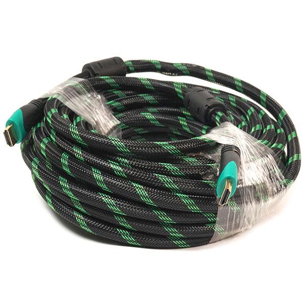 Видeo кабель PowerPlant HDMI - HDMI, 15m, позолоченные коннекторы, 2.0V, Double ferrites, Highspeed KD00AS1294