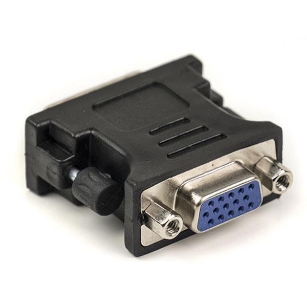 Переходник PowerPlant VGA - DVI-I, черный CA910892