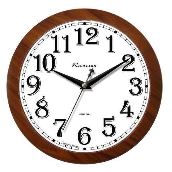 Часы настенные Камелия Золотой орех 225093