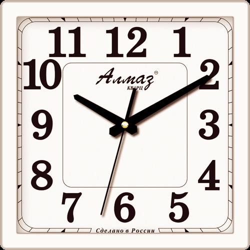 Часы настенные Алмаз 1302 классика (Белый)