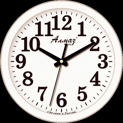 Часы настенные Алмаз 1002 классика (Белый)